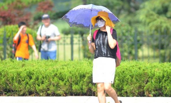陕西高温预警继续发布 西安今日最高温度38℃